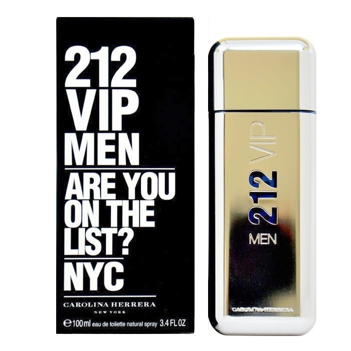 212 VIP Cologne by Carolina Herrera 3.4oz Eau De Toilette spray for men