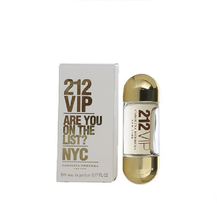 212 VIP Mini Perfume by Carolina Herrera 0.17oz / 5ml Eau De Parfum for Women