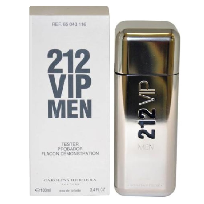212 VIP Tester Cologne by Carolina Herrera 3.4oz Eau De Toilette spray for men