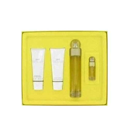 360 Perry Ellis Gift Set for women - 3.3oz Eau De Toilette spray, 3.0oz Body Lotion, 3.0oz Shower Gel and 0.25oz Miniature