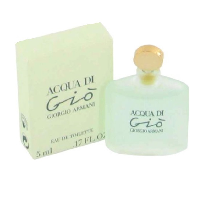 Acqua di Gio Mini Perfume by Giorgio Armani 0.17oz / 5ml Eau De Toilette for women