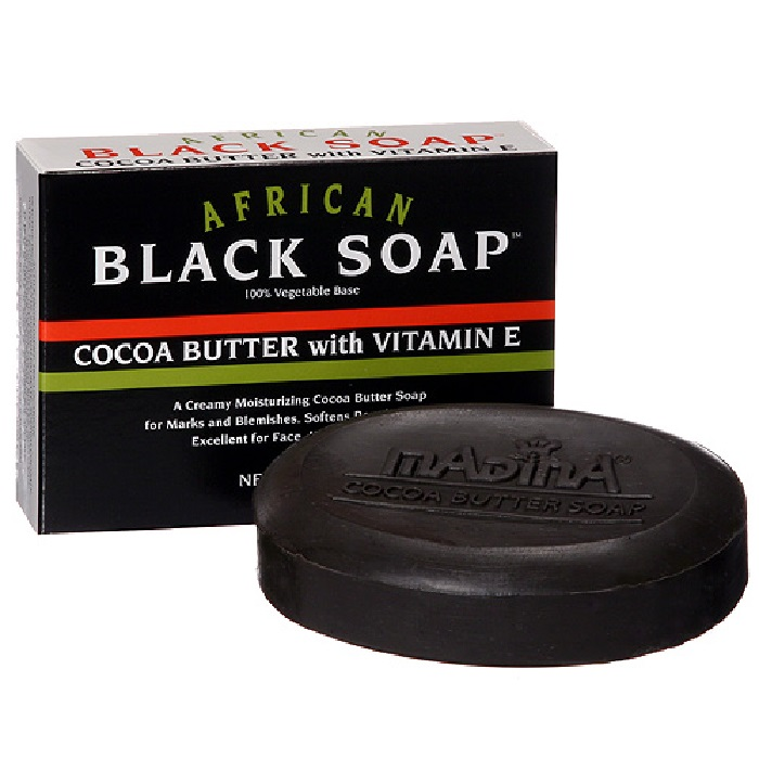 African Black Soap 3.5oz - Cocoa Butter - Pack of 6 pieces