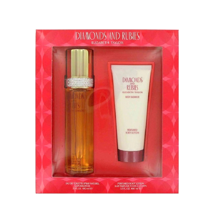 Diamonds and Rubies Perfume Gift Sets for Women - 3.3oz Eau De Toilette spray, & 3.3oz Body Lotion