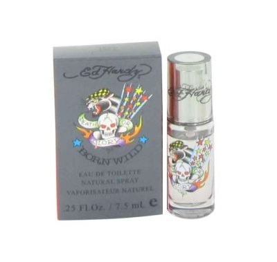 Ed Hardy Born Wild Mini Cologne by Christian Audigier 7.5ml Eau De Toilette spray for Men