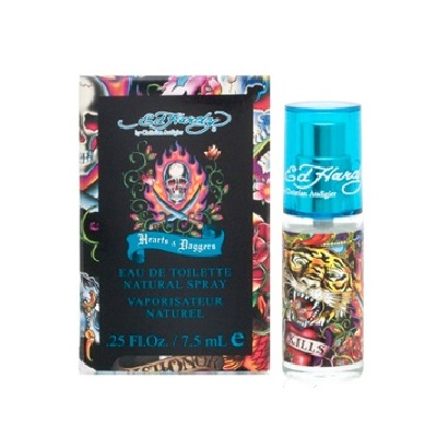 Ed Hardy Hearts & Daggers Mini Cologne by Christian Audigier 7.5ml Eau De Toilette spray for Men