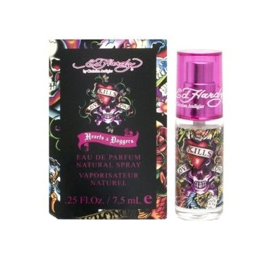 Ed Hardy Hearts & Daggers Mini Perfume by Christian Audigier 7.5ml Eau De Parfum spray for Women