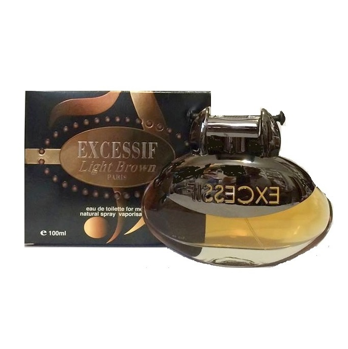 Excessif Light Brown Cologne by Elyse Tend 3.4oz Eau De Toilette spray for Men