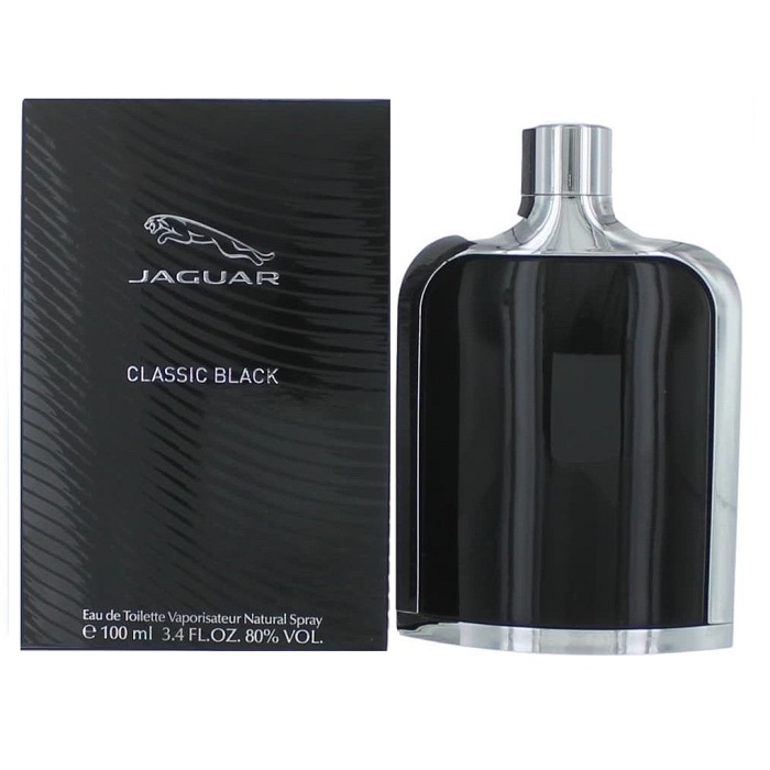 Jaguar Classic Black Cologne by Jaguar 3.4oz Eau De Toilette spray for men