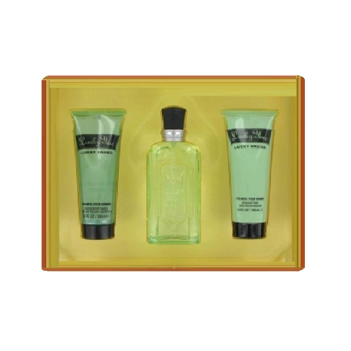 Lucky You Gift Set for men - 3.4oz Cologne spray, 3.4oz Body Wash, and 3.4oz Body Moist