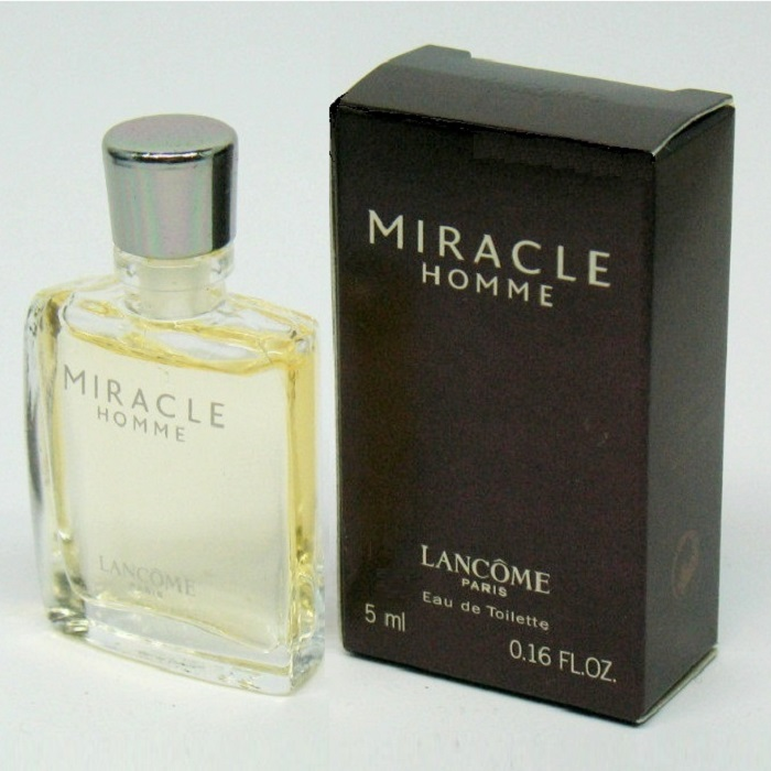 Miracle Mini Cologne by Lancome 0.16oz / 5ml Eau De Toilette for men