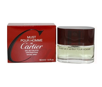 Must pour homme Cologne by Cartier 1.6oz Eau De Toilette spray for Men