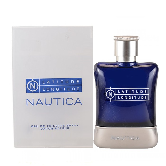 Nautica Latitude Longitude Cologne by Nautica 3.4oz Eau De Toilette spray for men