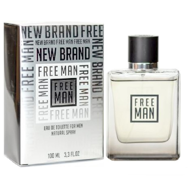 New Brand Free Man Cologne by New Brand 3.3oz Eau De Toilette spray for men