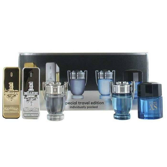 Paco Rabanne Men Mini Gift Set - 1 Million, Invictus, Invictus Intense, Pure Xs, & 1 Million Prive