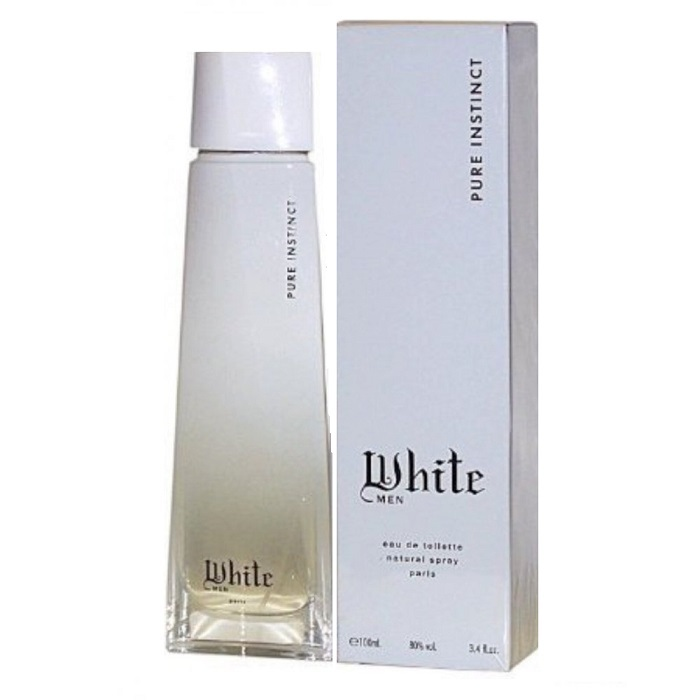 Pure Instinct White Cologne by Karen Low Paris 3.3oz Eau De Toilette spray for Men
