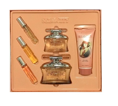 Sex In The City Feelings Exotic Perfume 6 pieces Gift Set by New Style for women