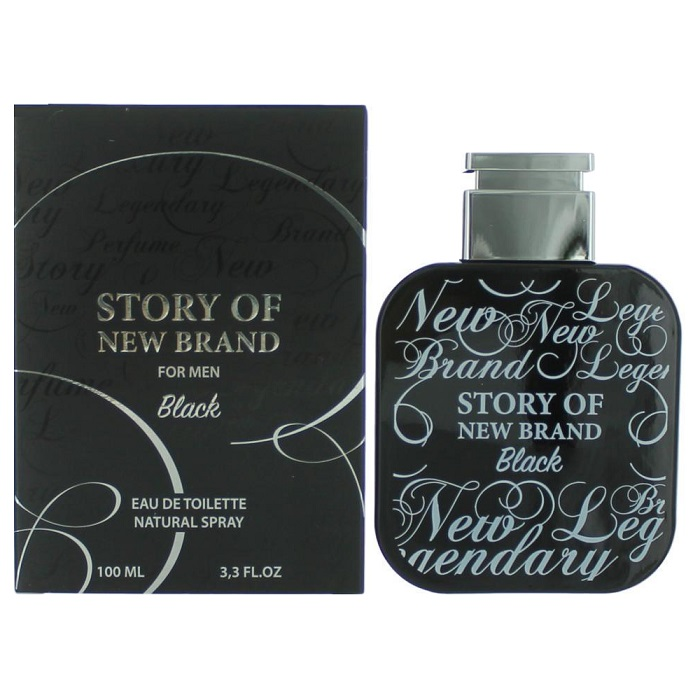 Story of Black Cologne by New Brand 3.3oz Eau De Toilette spray for men