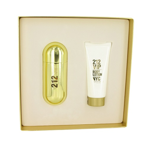 212 VIP Gift Sets for Women - 2.7oz Eau De Parfum spray and 3.4oz Body Lotion