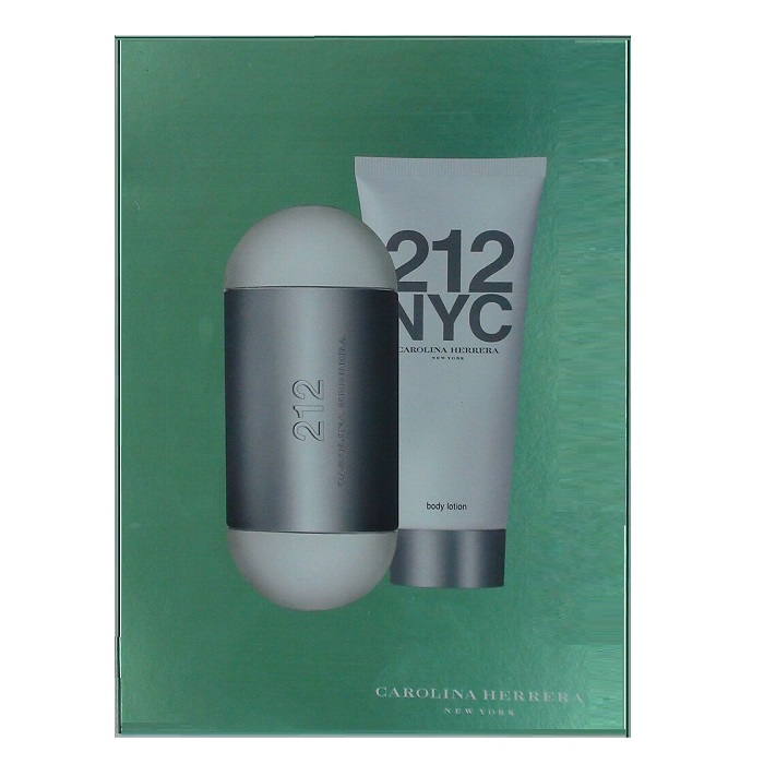 212 by Carolina Herrera Gift Set for women - 3.4oz Eau De Toilette Spray, and 3.4oz Body Lotion