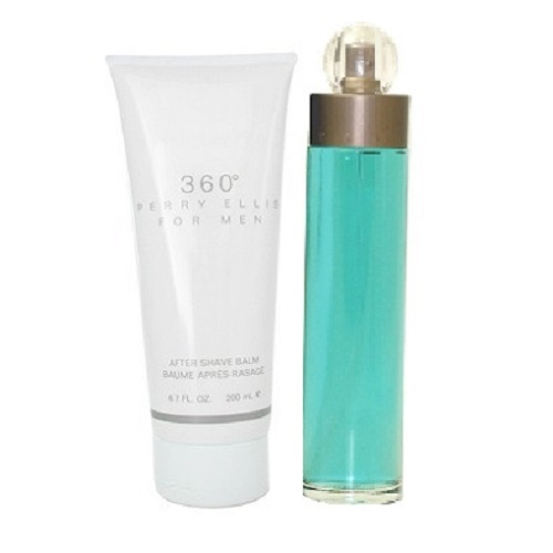 360 Perry Ellis Gift Set for men - 3.4oz Eau De Toilette Spray, & 3.4oz After Shave Balm