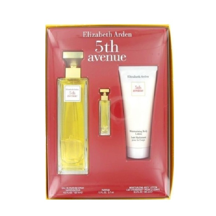 5th Avenue Gift Set - 4.2oz Eau De Parfum spray, 3.3oz Body Lotion and 3.7ml Mini