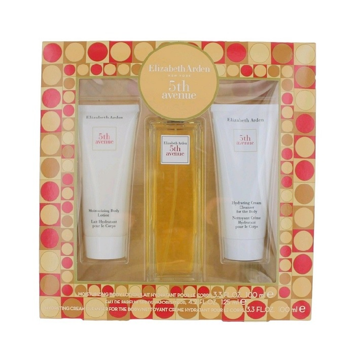 5th Avenue Gift Set - 4.2oz Eau De Parfum spray, 3.3oz Moisturizing Body Lotion and 3.3oz Hydrating Cream Cleanser