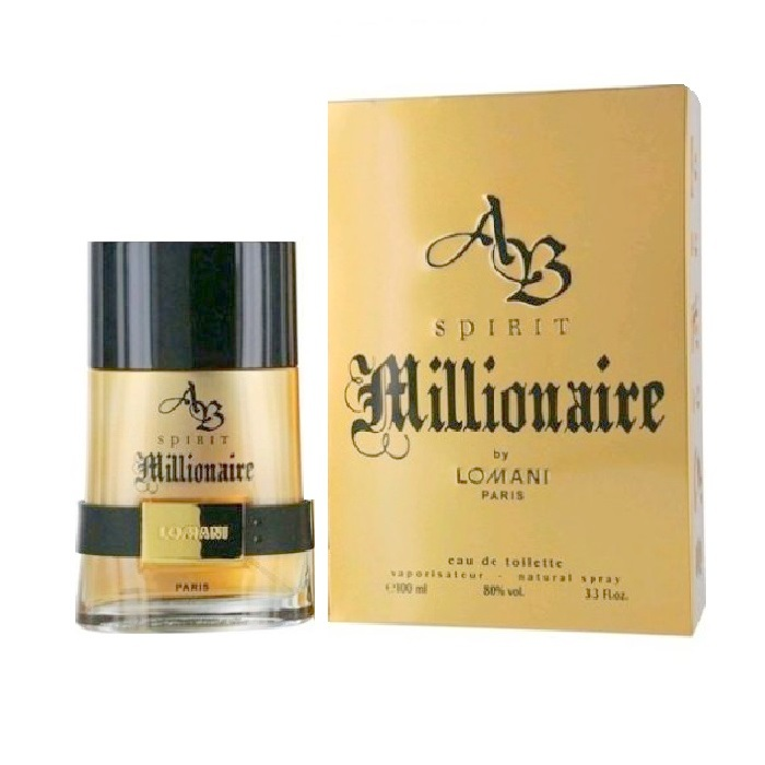 AB Spirit Millionaire Cologne by Lomani 3.3oz Eau De Toilette Spray for men