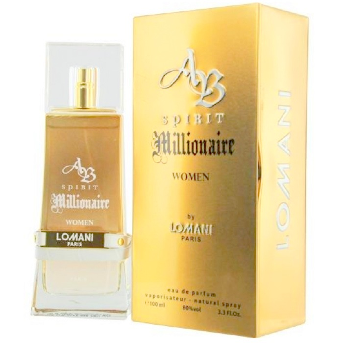 AB Spirit Millionaire Perfume by Lomani 3.3oz Eau De Parfum Spray for women