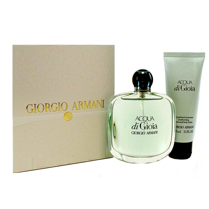 Acqua Di Gioia Perfume Gift Sets by Giorgio Armani for Women - 3.4oz Eau De Parfum Spray, & 2.5oz Body Lotion
