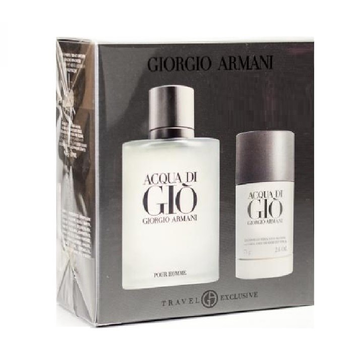 Acqua di Gio Gift Sets for men - 3.4oz Eau De Toilette spray & 2.6oz Deodorant Stick