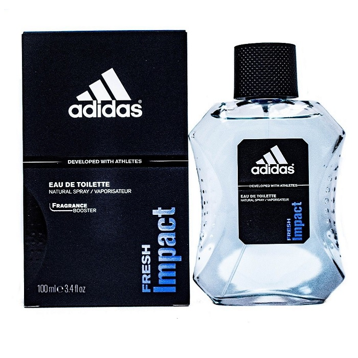 Adidas Fresh Impact Cologne by Adidas 3.4oz Eau De Toilette Spray for men