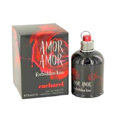 Amor Amor Forbidden Kiss Perfume by Cacharel 3.4oz Eau De Toilette spray for Women - Click Image to Close