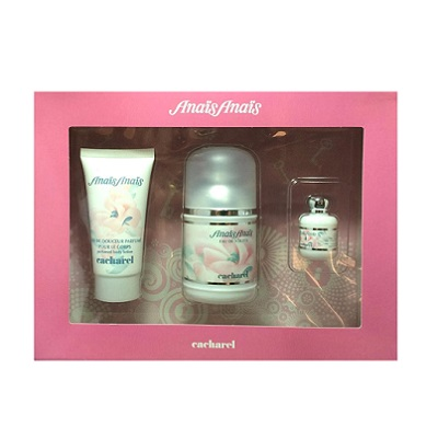 Anais Anais Gift Set for women - 3.4oz Eau De Toilette spray, 1.7oz Perfumed Body Lotion and Miniature
