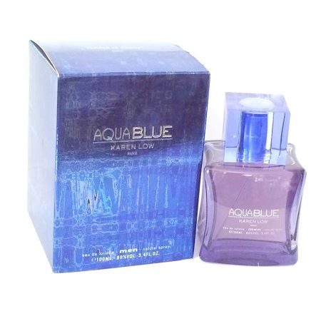 Aqua Blue Cologne by Karen Low 3.4oz Eau De Toilette spray for Men
