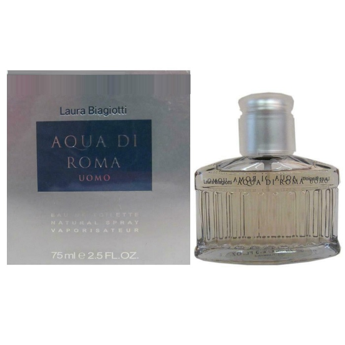 Aqua Di Roma Cologne by Laura Biagiotti 2.5oz Eau De Toilette Spray for men