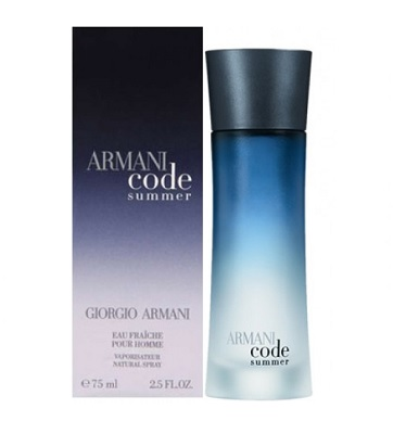 Armani Code Summer Cologne by Giorgio Armani 2.5oz Eau De Toilette spray for Men