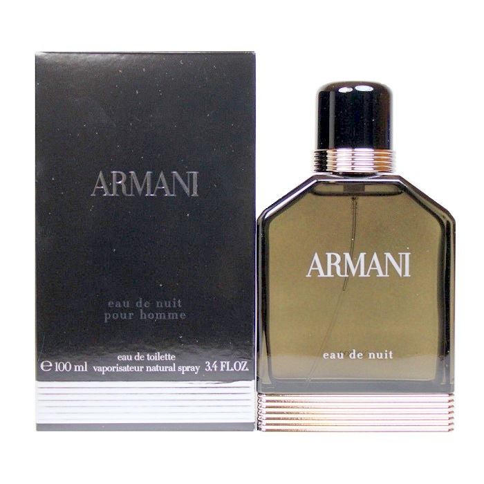 Armani Eau De Nuit Cologne by Giorgio Armani 3.4oz Eau De Toilette spray for Men