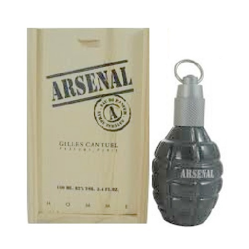 Arsenal Grey Cologne by Gilles Cantuel 3.4oz Eau De Toilette spray for Men