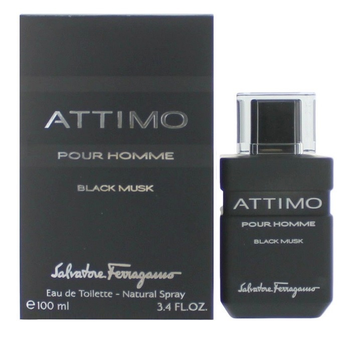 Attimo Black Musk Cologne by Salvadore Ferragamo 3.4oz Eau De Toilette spray for men