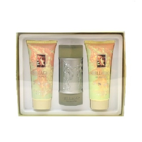Bellagio Gift Set for Women - 3.4oz Eau De Parfum spray, 6.8 oz Body Cream & 6.8oz Body Wash