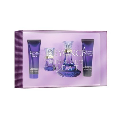 Beyonce Midnight Heat Perfume Gift Set - 3.4oz Eau De Parfum spray, 2.5oz Body Lotion, 2.5oz Gel, & 15ml Eau De Parfum spray