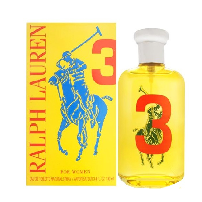 Big Pony 3 Yellow Perfume by Ralph Lauren 3.4oz Eau De Toilette spray for Women