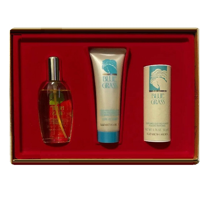 Blue Grass Perfume Gift Sets - 1.7oz Eau De Parfume, 2.5oz Body Lotion, & 1.76oz Powder