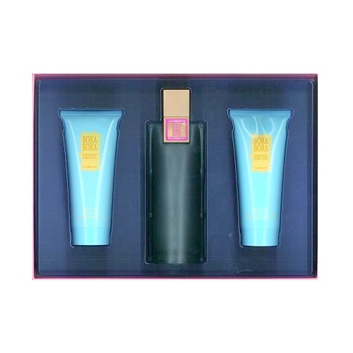 Bora Bora Exotic Perfume Gift Set - 3.4oz Eau De Parfum Spray, 3.4oz Body Loition, & 3.4oz Gel