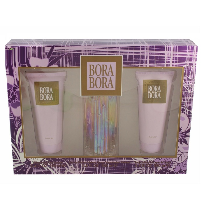 Bora Bora Perfume Gift Set - 3.4oz Eau De Parfum Spray, 3.4oz Body Lotion & 3.4oz Shower Gel