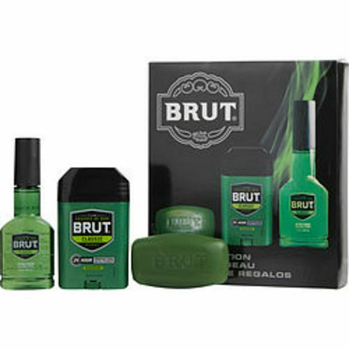 Brut Cologne Gift Set for men - 3.0oz Eau De Cologne Spray, and 2.25oz Deodorant Stick, & Bar Soap 3.0oz