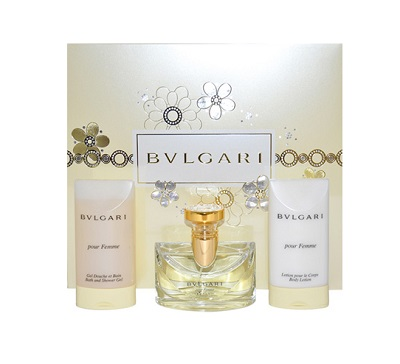 Bvlgari Pour Homme Gift Set - 1.7oz Eau De Toilette spray, 2.5oz After Shave Balm and 2.5oz Shower Gel