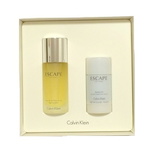 Calvin Klein Escape Gift Set for men - 3.4oz Eau De Toilette spray & 2.6oz Deodorant Stick