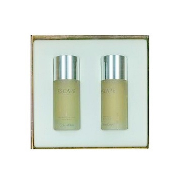 Escape Gift Set for Men - 3.4oz Eau De Toilette spray & 3.4oz After Shave Lotion (liquid)