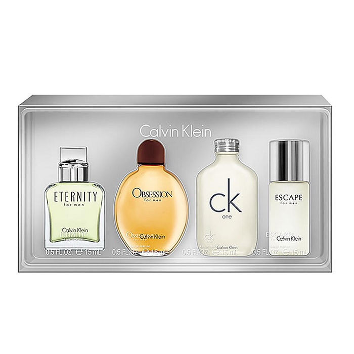 Calvin Klein Mini Collection for men - 0.5oz Obsession, 0.5oz Eternity, 0.5oz Escape, and 0.5oz CK One